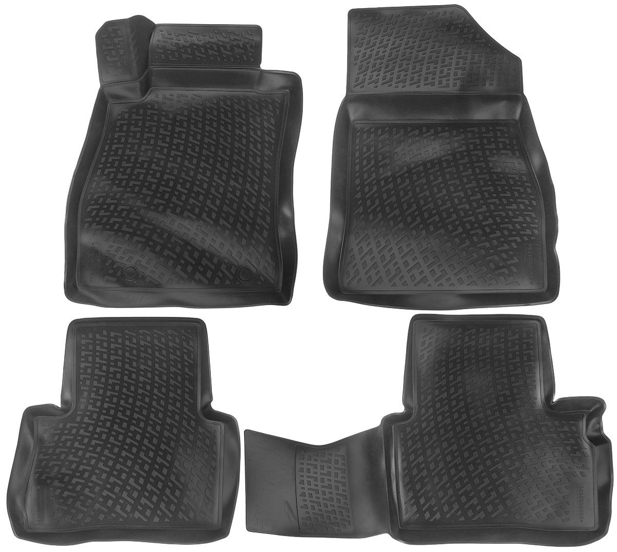 Набор автомобильных ковриков L.Locker Nissan Juke 2010, в салон, 4 шт0205020101Набор L.Locker Nissan Juke 2010, изготовленный из полиуретана, состоит из 4 антискользящих 3D ковриков, которые производятся индивидуально для каждой модели автомобиля. Изделие точно повторяет геометрию пола автомобиля, имеет высокий борт, обладает повышенной износоустойчивостью, лишено резкого запаха и сохраняет свои потребительские свойства в широком диапазоне температур от -50°С до +50°С.Комплектация: 4 шт.Размер ковриков: 92 см х 57 см; 57 см х 56 см; 72 см х 58 см; 77 см х 58 см.