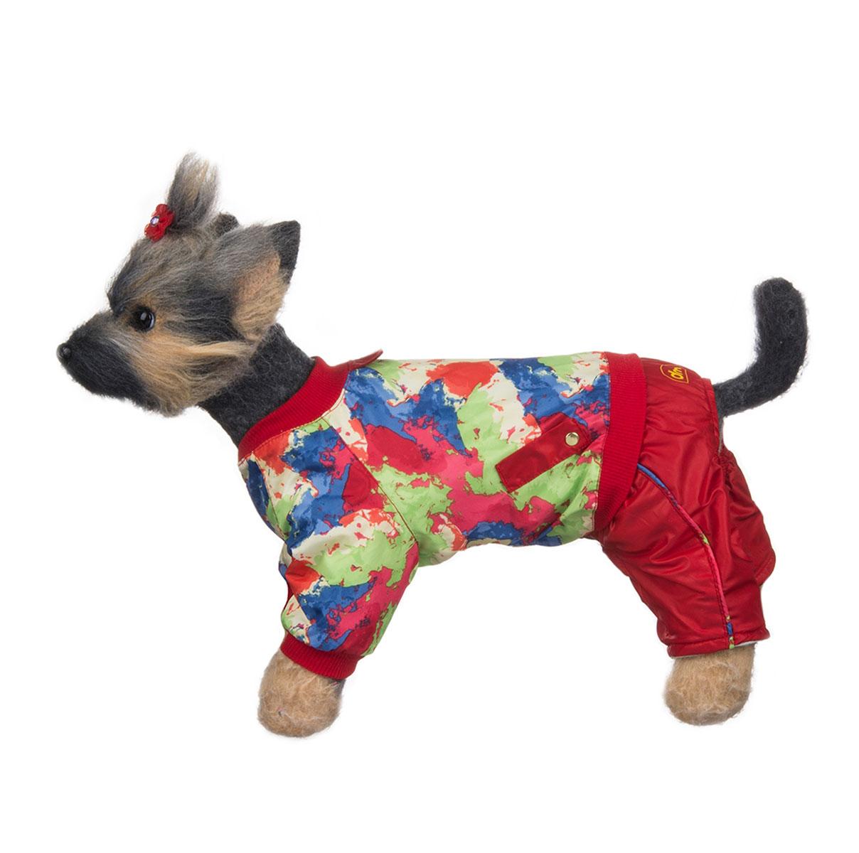 Комбинезон для собак Dogmoda Акварель, для девочки, цвет: красный, синий, зеленый. Размер 4 (XL) комбинезоны для животных dogmoda комбинезон doggs active 70 сука