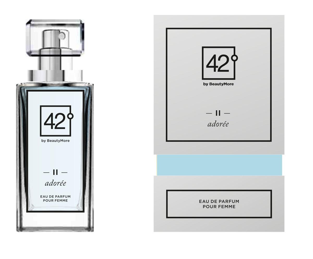 Fragrance 42 Парфюмированная вода для женщин II Adoree 50 мл42-96155Адор -аромат для любимых и обожаемых.женщин,которых носят на руках.Верхняя нота - абрикос,кориандр,перец,свежий миндаль,оранжевый перец,душистый перец,розовое дерево , нота сердца, базовые ноты