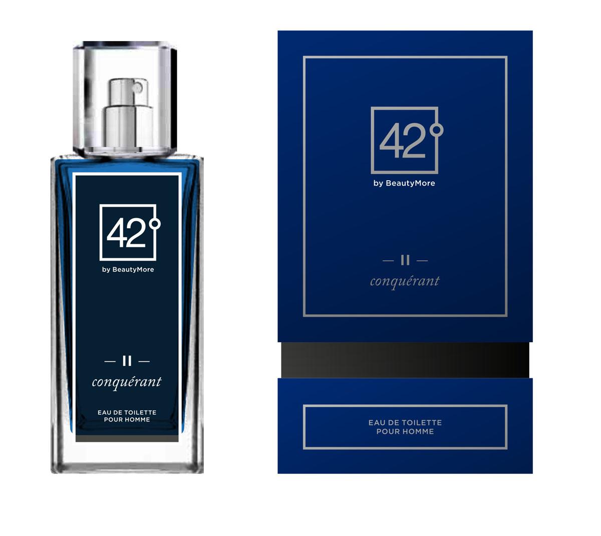 Fragrance 42 Туалетная вода для мужчин II Conquerant 100 мл42-96158Конкьюрант - аромат созданный для настоящих,решительных, мужчин,уверенных в себе и смело покоряющих любые цели. Этот аромат станет завершающей ноткой в вашем неотразимом образе. Верхняя нота-грейпфрут,мандарин,морские нотынота сердца - лавровый лист,жасмин,базовые ноты - Гваяковое дерево,дубовый мох,пачули,серый янтарь