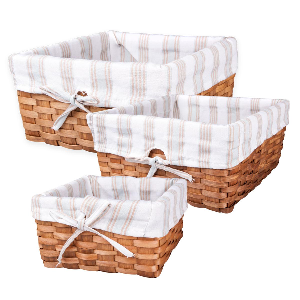 Набор из 3-х плетеных корзин. QL400339 набор из 3 х плетеных корзин ql400339