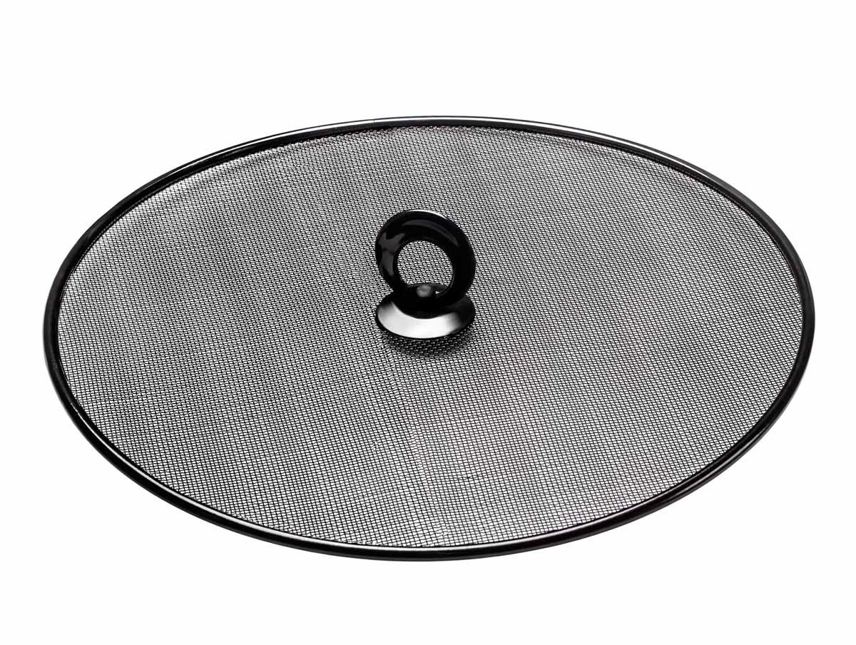 """Брызгогаситель  Идея """"Накрывашка"""" предназначен для предотвращения разбрызгивания блюд во время приготовления. Изделие станет настоящим помощником для любой хозяйки. Не рекомендуется мыть в подумоечной машине.  Диаметр крышки: 28,5 см."""