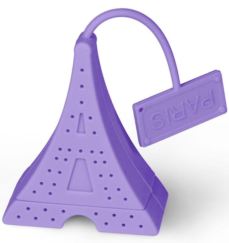 Ситечко для чая Идея Париж, цвет: фиолетовыйPRG-01_фиолСитечко Идея Париж изготовлено из силикона и выполнено в виде Эйфелевой башни. Оно прекрасно подходит для заваривания любого вида чая. Оригинальная форма делает ситечко удобным и стильным аксессуаром для чаепития. Размер ситечка: 6,5 х 5,2 х 2,8 см.
