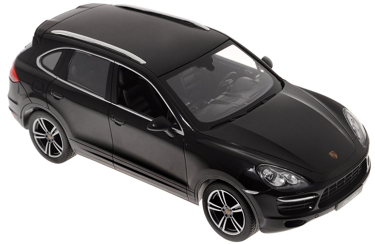 Rastar Радиоуправляемая модель Porsche Cayenne Turbo цвет черный масштаб 1:14 rastar rastar радиоуправляемый автомобиль porsche cayenne turbo масштаб 1 14 в ассортименте