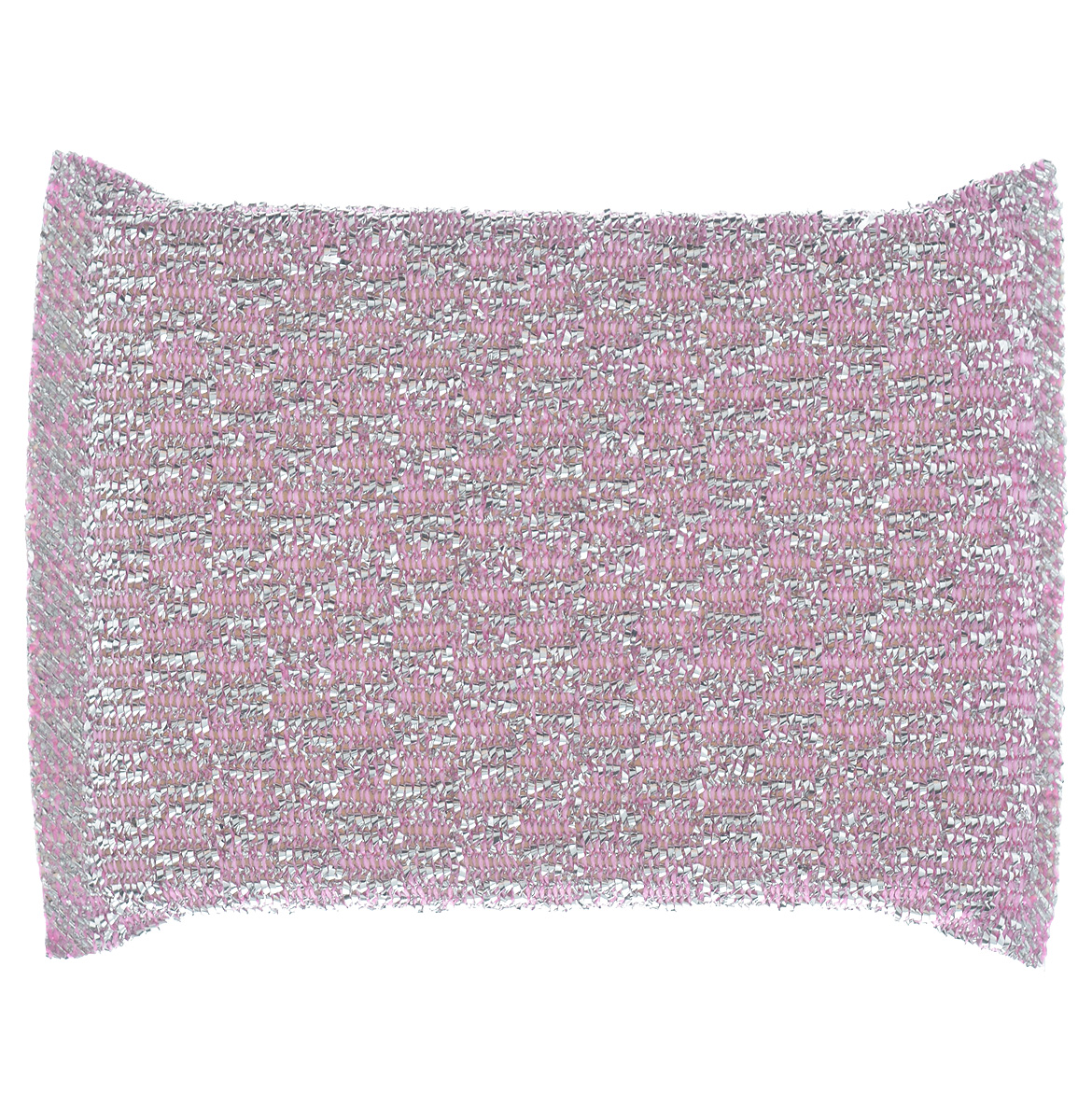 Губка для мытья посуды Home Queen, с металлизированной нитью, цвет: розовый губка для мытья посуды фозет мини соты 2 шт