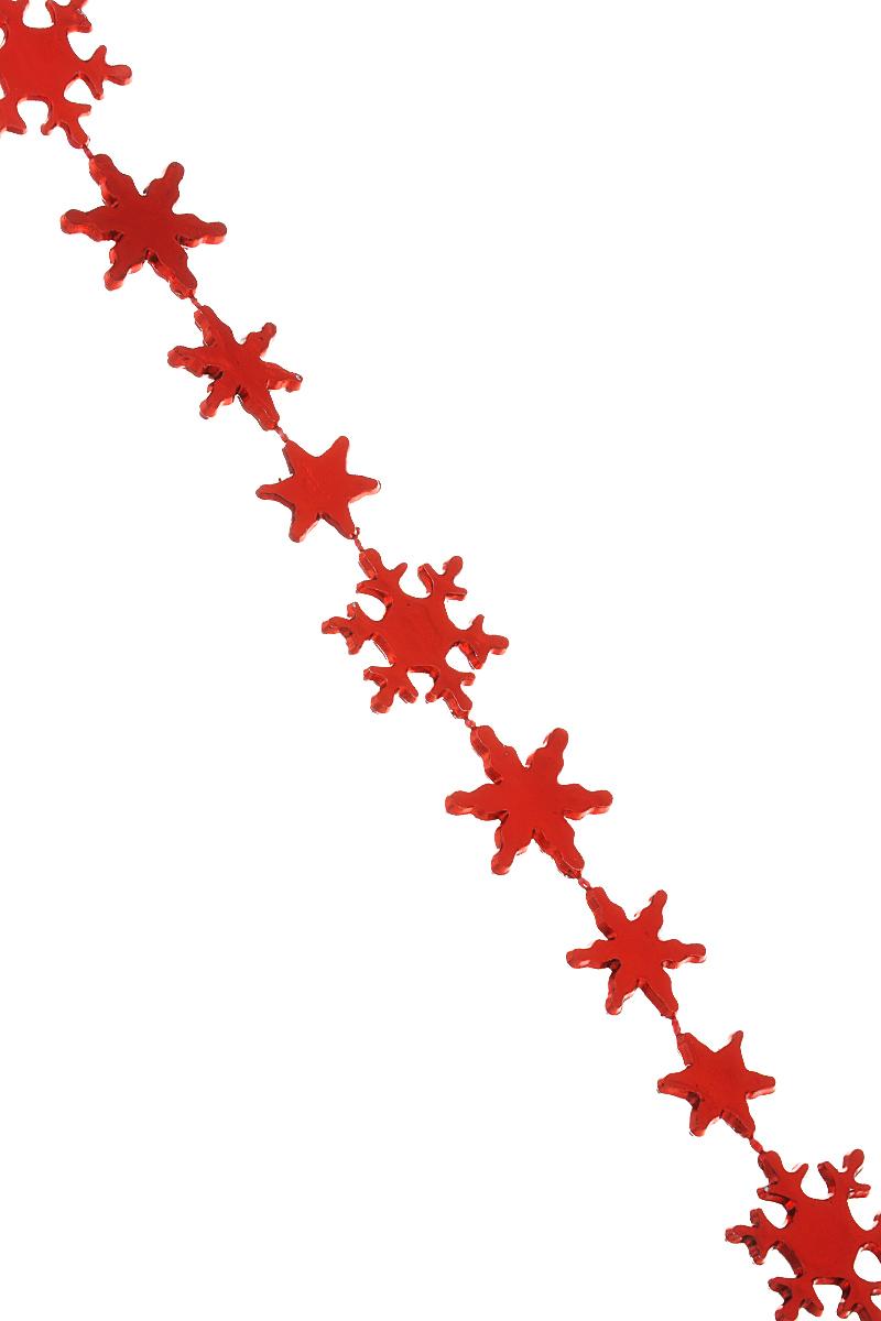 Гирлянда новогодняя Феникс-презент Magic Time, цвет: красный, длина 2,7 м. 3869038690Новогодняя гирлянда Феникс-презент Magic Time отлично подойдет длядекорациивашего дома и новогодней ели. Изделие, выполненное из полистирола,представляетсобой гирлянду, на текстильной нити, на которой нанизаны бусины в видеснежинок. Новогодние украшения несут в себе волшебство и красоту праздника. Онипомогут вам украсить дом к предстоящим праздникам и оживить интерьер повашему вкусу. Создайте в доме атмосферу тепла, веселья и радости, украшая еговсей семьей.Средний размер бусин: 1,5 см х 1,5 см х 0,3 см.