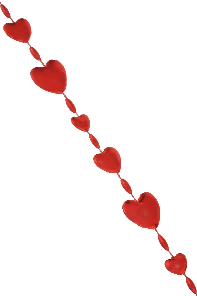 Новогодняя гирлянда Феникс-презент Magic Time, цвет: красный, длина 2,7 м. 3869238692Новогодняя гирлянда Феникс-презент Magic Time отлично подойдет для декорации вашего дома и новогодней ели. Изделие, выполненное из полистирола, представляет собой гирлянду, на текстильной нити, на которой нанизаны бусины в виде сердец.Новогодние украшения несут в себе волшебство и красоту праздника. Они помогут вам украсить дом к предстоящим праздникам и оживить интерьер по вашему вкусу. Создайте в доме атмосферу тепла, веселья и радости, украшая его всей семьей.Средний размер бусин: 1,5 см х 1,5 см х 0,3 см.