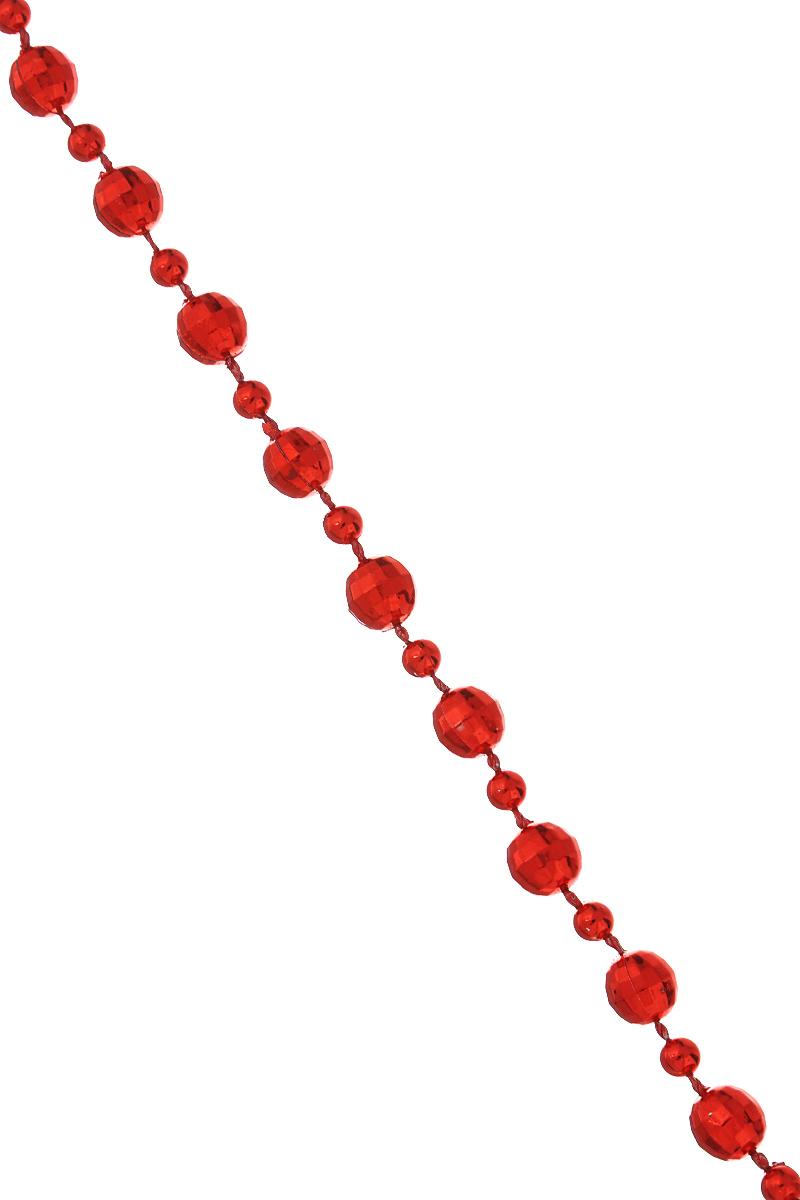 Новогодняя гирлянда Феникс-презент Magic Time, цвет: красный, длина 2,7 м. 3868938689Новогодняя гирлянда Феникс-презент Magic Time отлично подойдет для декорации вашего дома и новогодней ели. Изделие, выполненное из полистирола, представляет собой гирлянду, на текстильной нити, на которой нанизаны круглые бусины разного размера. Новогодние украшения несут в себе волшебство и красоту праздника. Они помогут вам украсить дом к предстоящим праздникам и оживить интерьер по вашему вкусу. Создайте в доме атмосферу тепла, веселья и радости, украшая его всей семьей. Диаметр бусин: 0,6 см; 0,4 см.