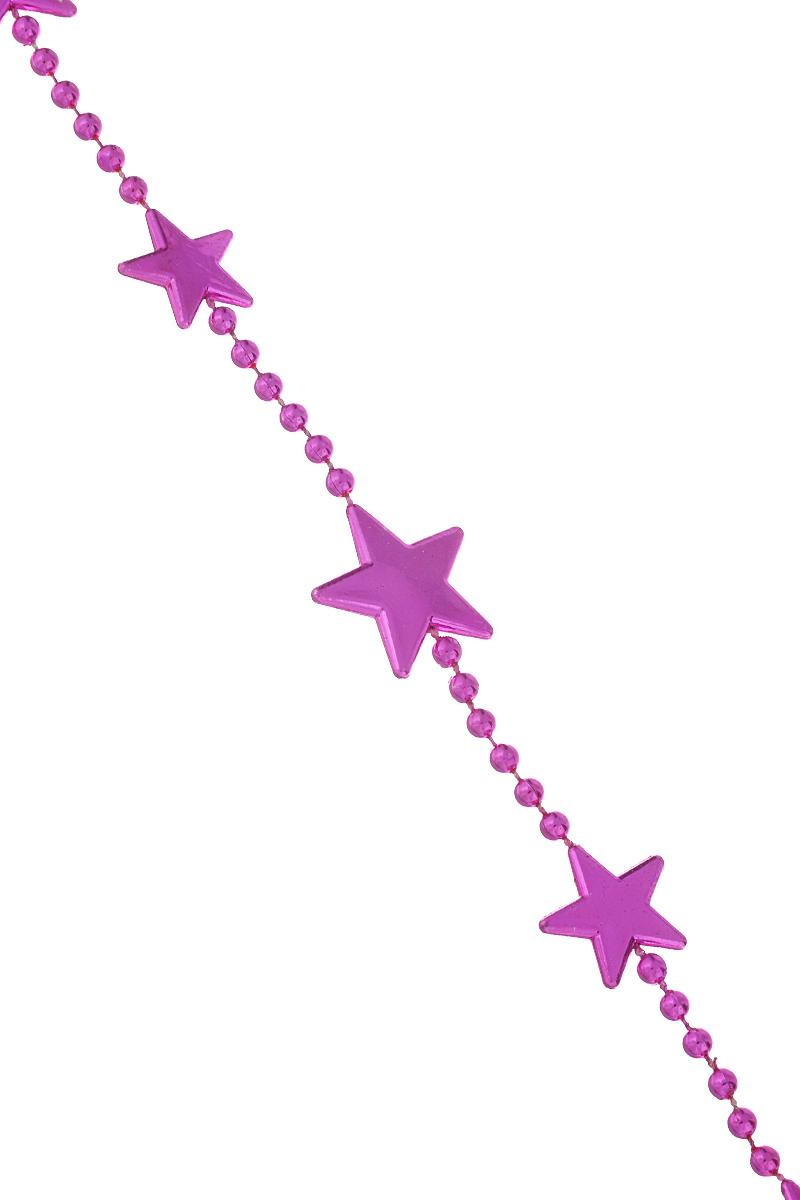 Новогодняя гирлянда Lunten Ranta Цепочка из звезд, цвет: фуксия, длина 2 м новогодняя гирлянда lunten ranta на ленте цвет золотой длина 2 м