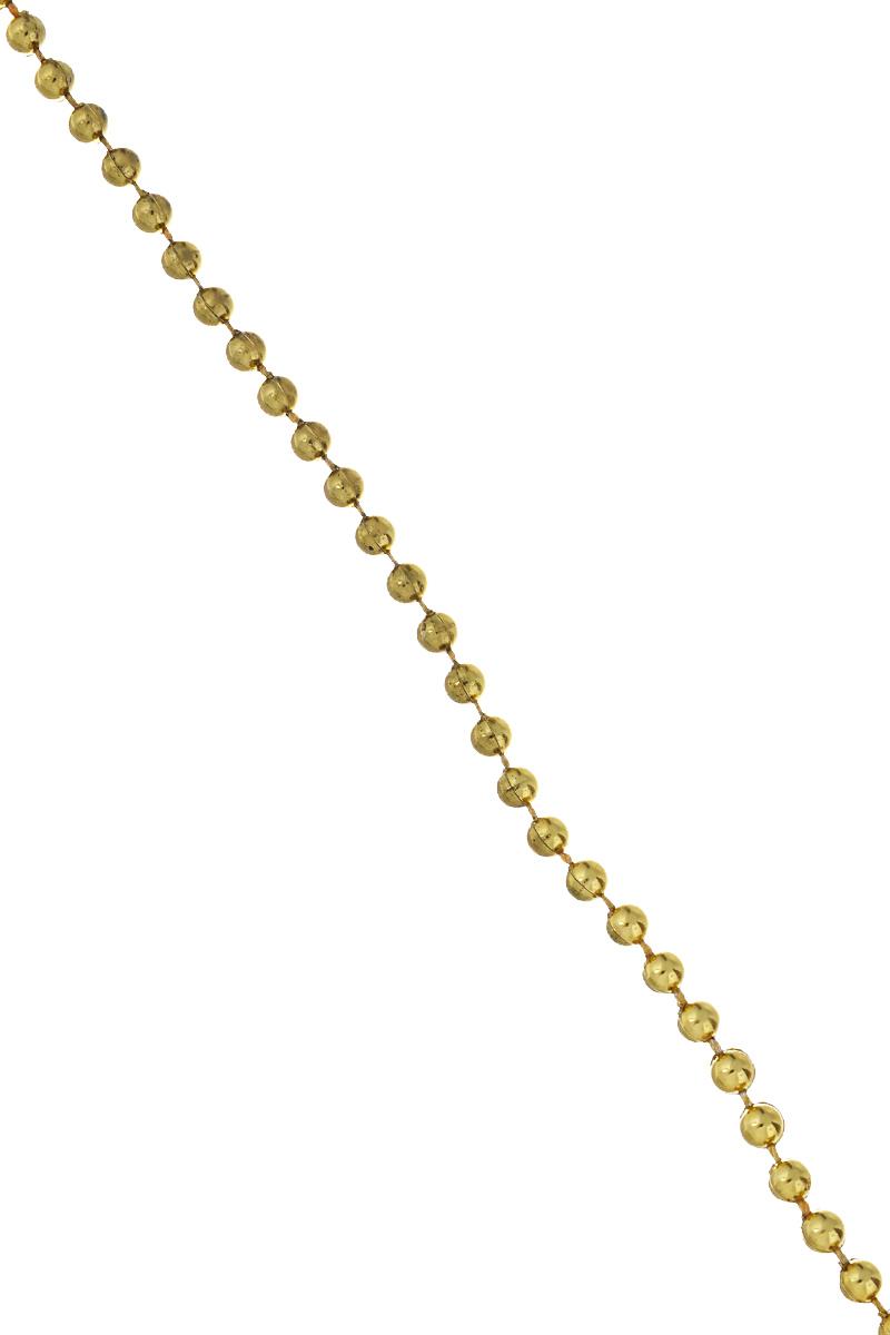 Гирлянда новогодняя Феникс-презент Бусы, цвет: золотистый, длина 2,7 м38672Новогодняя гирлянда Феникс-презент Бусы, выполненная из полистирола, украсит интерьер вашего дома или офиса в преддверии Нового года. Гирлянда представляет собой бусины на нити. Оригинальный дизайн и красочное исполнение создадут праздничное настроение. Новогодние украшения всегда несут в себе волшебство и красоту праздника. Создайте в своем доме атмосферу тепла, веселья и радости, украшая его всей семьей.Диаметр бусины: 0,4 см.