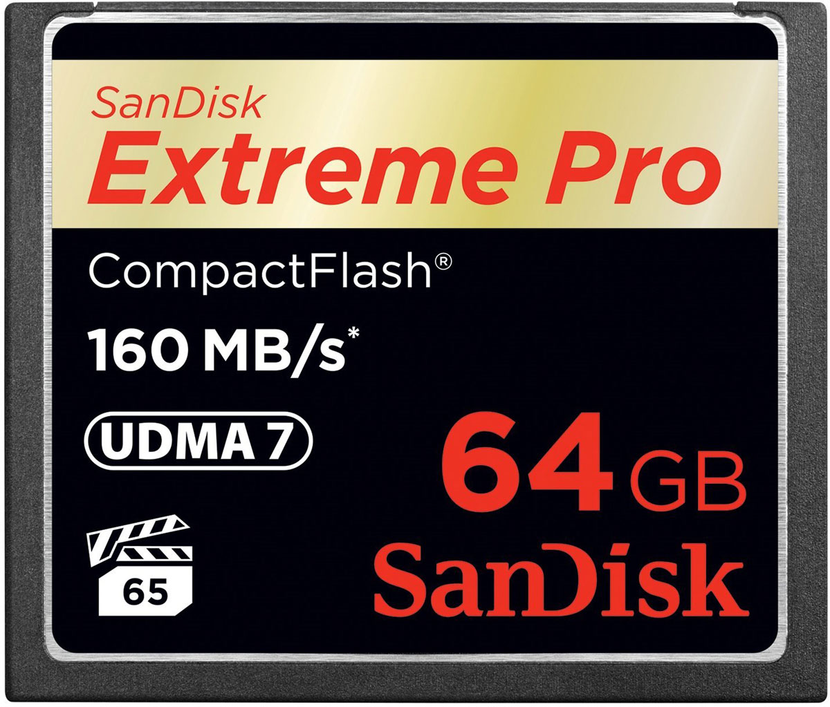 SanDisk Extreme Pro CompactFlash 64GB карта памяти