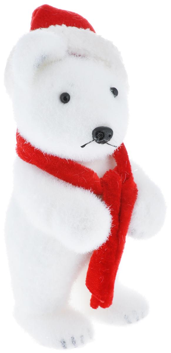 Новогодняя декоративная фигура Its a Happy Day Медвежонок в шапочке, высота 21,5 см67498Новогодняя декоративная фигура Its a Happy Day Медвежонок в шапочке выполнена из пенопласта, искусственного волокна и полиэстера в виде забавного медведя с шарфиком. Такая оригинальная фигура подойдет для оформления новогоднего интерьера и принесет с собой атмосферу радости и веселья, а также станет замечательным подарком для друзей и близких. Высота: 21,5 см.Материал: пенопласт, искусственное волокно, полиэстер.