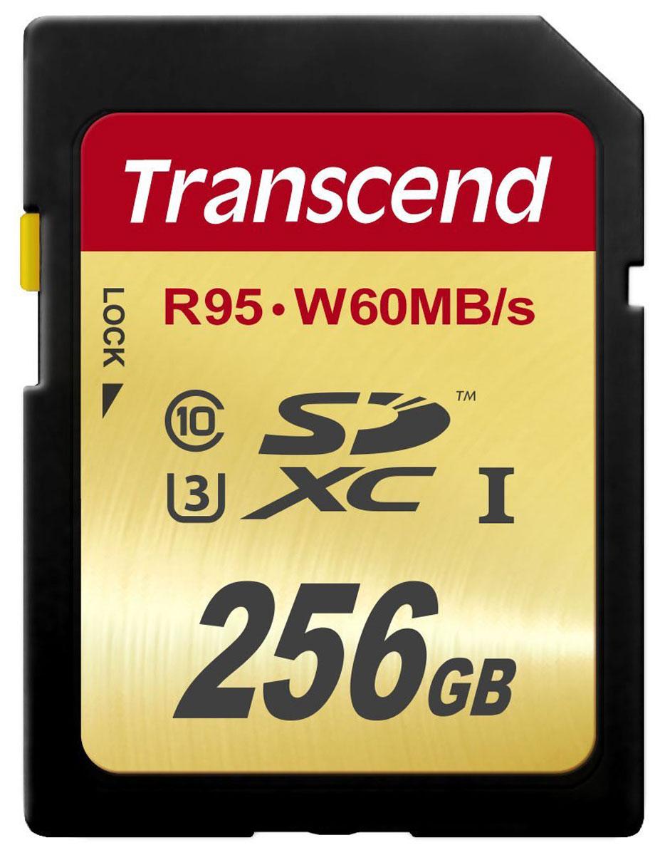 Transcend SDXC Class 10 UHS-I U3 256GB карта памятиTS256GSDU3Карты памяти Transcend SDXC UHS-I Speed Class 3 (U3) способны с легкостью справиться с потоками данных, генерируемыми цифровыми камерами, совместимыми со стандартом UHS-I. Благодаря рекордным скоростям чтения и записи, которые достигают 95 и 60 МБ/с, соответственно, они позволяют записывать видео сверхвысокого разрешения 4K и существенно сэкономить время, требуемое на переписывание видео на компьютер. Встроенная технология ECC позволяет обнаруживать и исправлять ошибки при передаче данных.Эксклюзивная программа RecoveRx обеспечивает надежное восстановление удаленных и утраченных данных с портативных носителей.Внимание: перед оформлением заказа, убедитесь в поддержке вашим электронным устройством карт памяти данного объема.