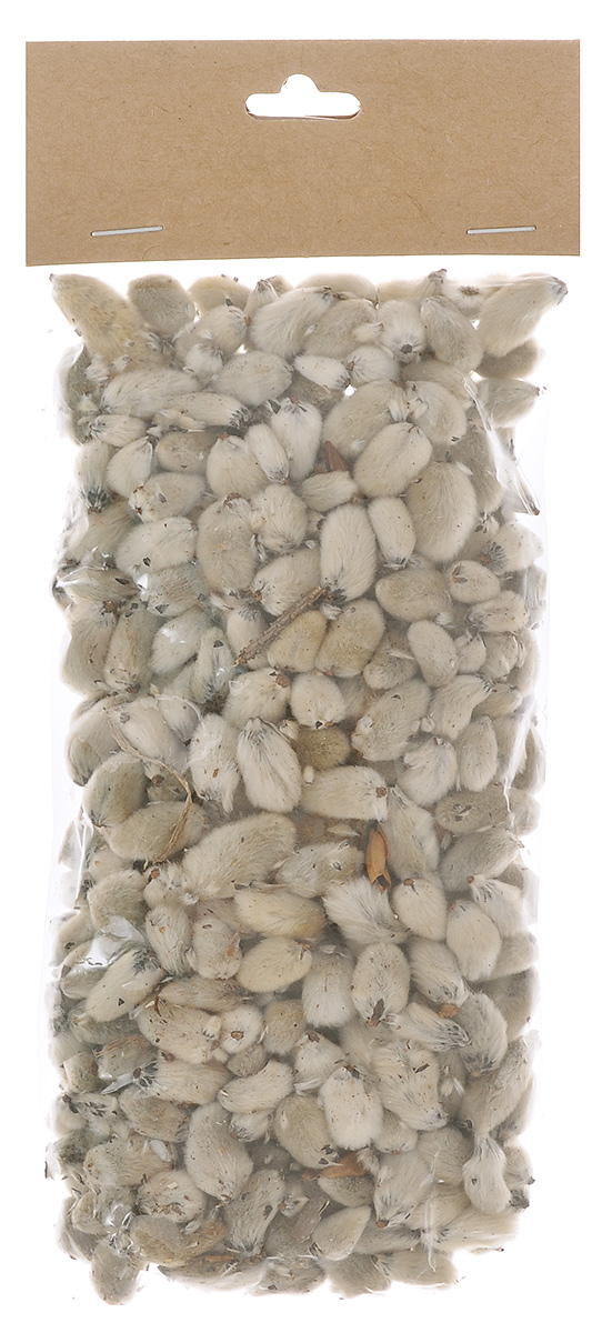 Декоративный элемент Dongjiang Art Почки вербы, цвет: белый, 50 г декоративный элемент dongjiang art срез ветки цвет натуральное дерево толщина 7 мм 250 г 7708980