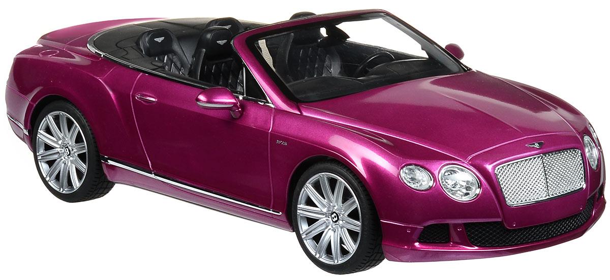 Rastar Радиоуправляемая модель Bentley Continental GT Speed Convertible цвет малиновый