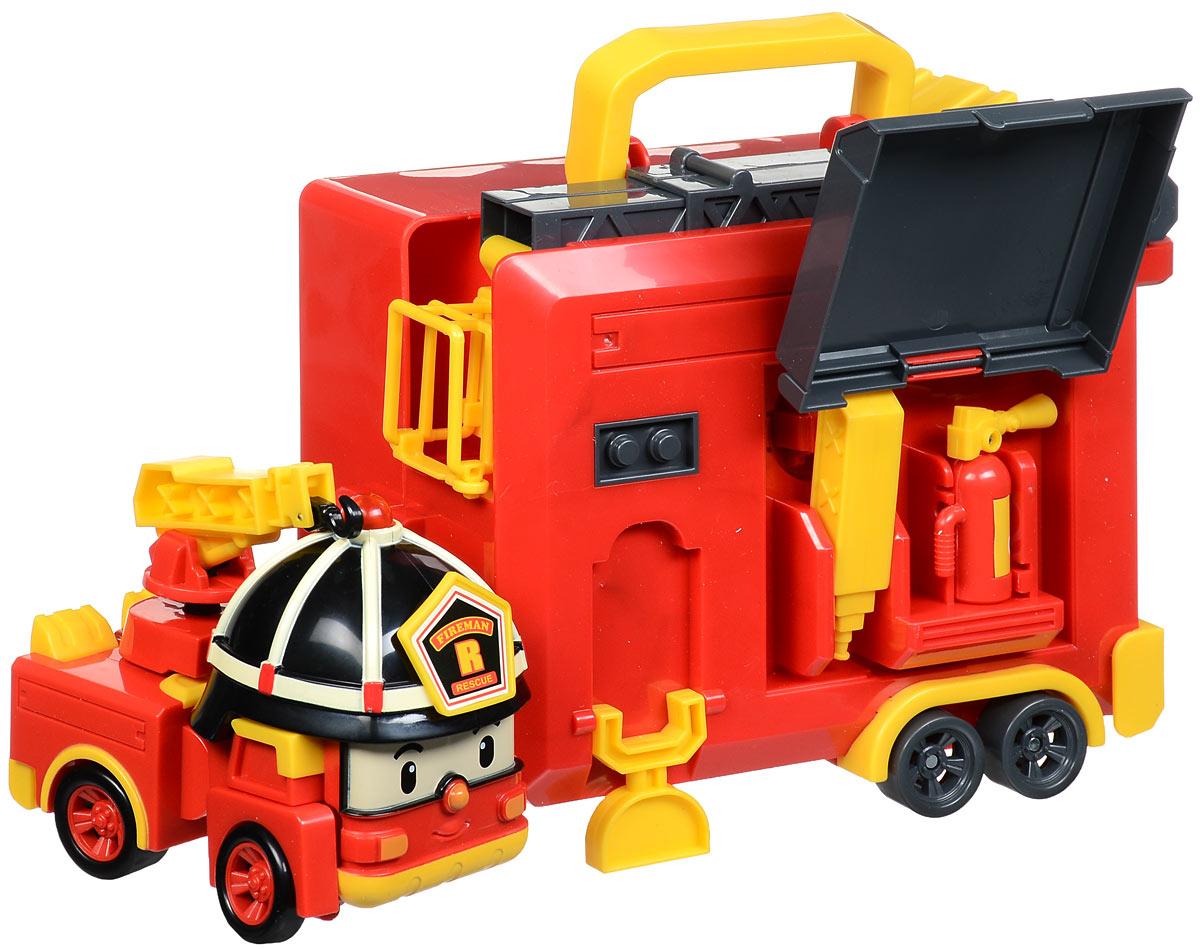Robocar Poli Игрушка-трансформер Рой с гаражом машинка трансформер robocar poli рой