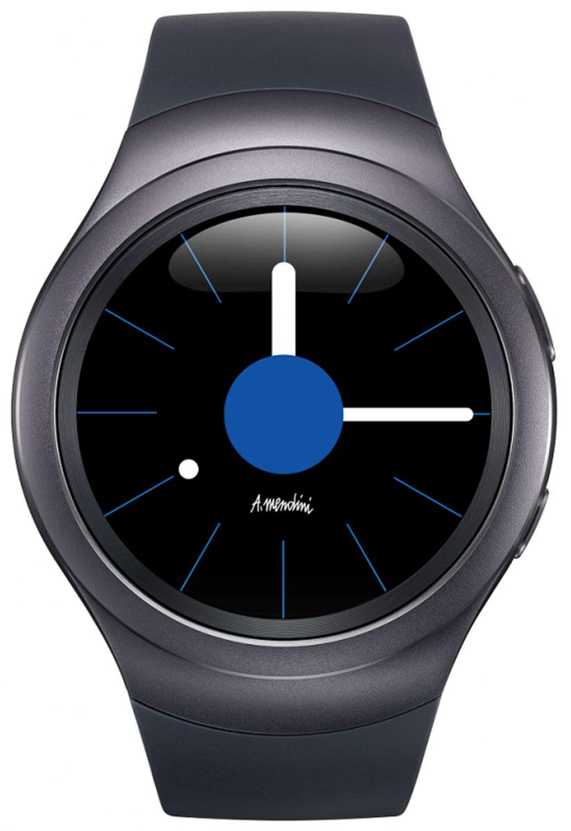 Samsung Gear S2 (SM-R720), Black смарт-часыSM-R7200ZKASERЭлегантные и стильные часы Samsung Gear S2 с прочным корпусом из нержавеющей стали идеально облегают запястье. Вы сможете легко менять циферблат и браслеты, чтобы выглядеть безупречно в любойситуации.Благодаря творческому союзу Samsung с Алессандро Мендини дизайн Samsung Gear S2 воплощает вкус, стиль и чувство цвета великого мастера. В широком ассортименте циферблатов и браслетов вы обязательно найдете те, которые подчеркнут ваш безупречный стиль. Все самые нужные функции смартфона активируются на Gear S2 простыми движениями. Поворачивая рамку, просматривайте длинные письма, увеличивайте карту и переходите к новой композиции. Теперь любой поворот — всегда к лучшему!Samsung Gear S2поможет вам заботиться о своем здоровье. Отслеживайте ежедневную активность, сердечный ритм и потребление воды и кофеина. Подбадривающие сообщения позволят достичь новых высот. Будьте в курсе дел, оставайтесь в форме и даже покупайте кофе с помощью Gear S2. А для подзарядки просто положите устройство на беспроводную зарядную станцию.Широкий ассортимент великолепных приложений для часов Samsung Gear S2сделает их еще удобнее. Короткие пробежки, долгие путешествия и безопасность вашего дома — теперь все под контролем. Теперь ваша любимая музыка всегда с вами! Вы сможете хранить до 300 композиций, без труда синхронизируя их со смартфоном — даже если вы собрались на пробежку и оставили его дома. Все, что вам нужно, — это Gear S2 и Bluetooth-наушники Level U.Дисплей 1.2 дюйма, 302 ppiTizen OSЧипсет Exynos 3250, двухъядерный процессорОперативная память: 512 МБЗащита от пыли и воды: IP68Приложения S Health, Nike+ RunningГолосовой набор с помощью S VoiceNFCБеспроводная зарядкаВремя зарядки – около 2 часов, время работы – около 2-3 дней