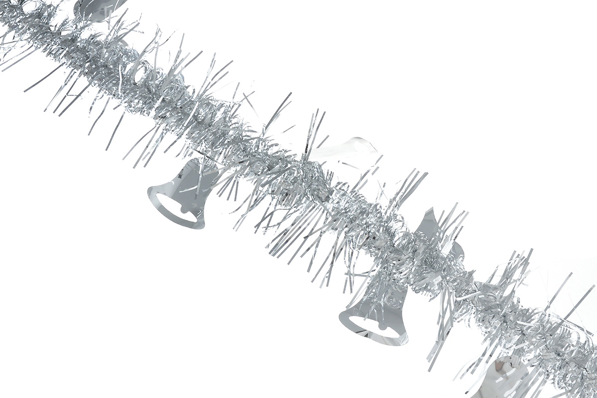 Мишура новогодняя Sima-land, цвет: серебристый, диаметр 2 см, длина 200 см. 706455706455_серебристыйНовогодняя мишура Sima-land, выполненная из фольги, поможет вам украсить свой дом к предстоящим праздникам. Мишура армирована, то есть имеет проволоку внутри и способна сохранять приданную ей форму. По всей длине изделие украшено фигурками из фольги в виде колокольчиков.Новогодней мишурой можно украсить все, что угодно - елку, квартиру, дачу, офис - как внутри, таки снаружи. Можно сложить новогодние поздравления, буквы и цифры, мишурой можно украсить идополнить гирлянды, можно выделить дверные колонны, оплести дверные проемы.