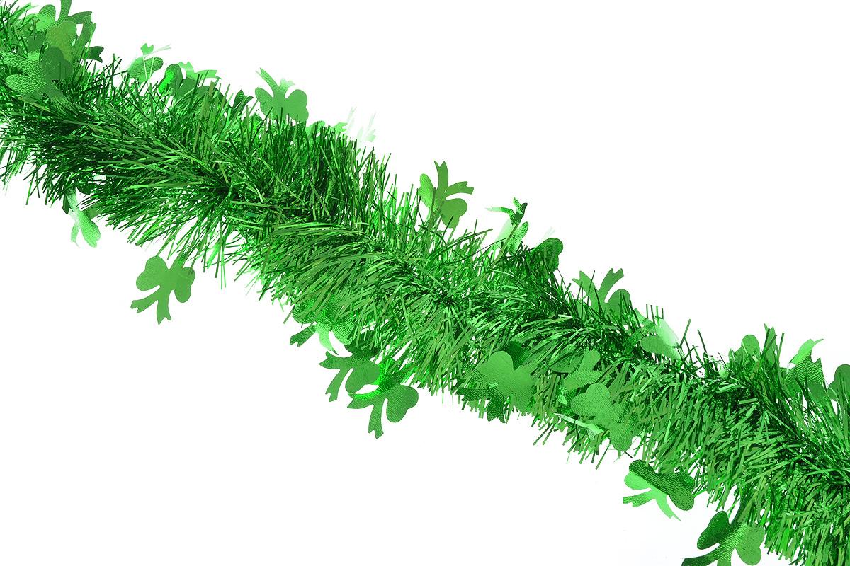 """Пушистая новогодняя мишура """"Sima-land"""", выполненная из фольги, поможет вам украсить свой дом к предстоящим праздникам. А новогодняя елка с таким украшением станет еще наряднее. Мишура армирована, то есть имеет проволоку внутри и способна сохранять придаваемую ей форму. По всей длине изделие украшено фигурками из фольги в виде бантиков.   Новогодней мишурой можно украсить все, что угодно - елку, квартиру, дачу, офис - как внутри, так и снаружи. Можно сложить новогодние поздравления, буквы и цифры, мишурой можно украсить и дополнить гирлянды, можно выделить дверные колонны, оплести дверные проемы."""