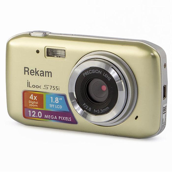 Rekam iLook S755i, Champagne цифровая фотокамера цифровая фотокамера rekam ilook s755i серый 1108005122