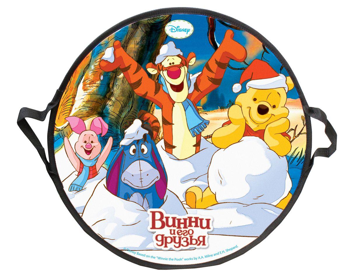 Disney Винни-Пух Ледянка круглая Disney Винни-Пух 52 смТ58164Ледянка Disney Винни-Пух станет прекрасным подарком для поклонников популярного мультфильма. Изделие предназначено катания с горок и идеально подойдет как для мальчиков, так и для девочек. Ледянка развивает на спуске хорошую скорость. Плотные ручки, расположенные по краям изделия помогут не упасть.