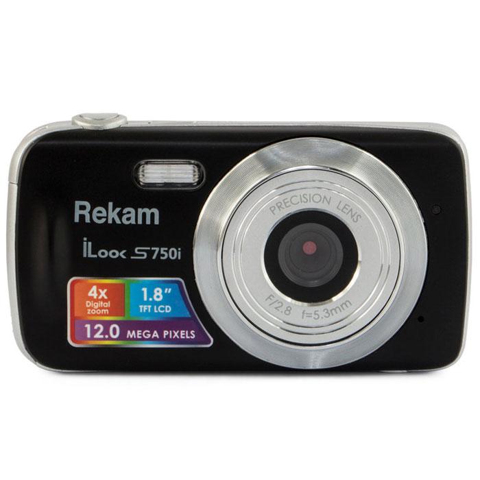 Rekam iLook S750i, Black цифровая фотокамера1108005091Rekam iLook S750i - это компактный цифровой фотоаппарат, созданный для сохранения памяти о самых ярких моментах жизни. Матрица CMOS обладает максимальным разрешением в 12 мегапикселей. Снимки, сделанные при помощи этой фотокамеры, идеальны для печати и редактирования. Rekam iLook S750i позволяет снимать видео в высоком разрешении и обладает всем необходимым для съемки в нормальных условиях. Фото сохраняются на карте памяти SD или MMC объемом до 32 Гб. Камера оборудована несколькими режимами настройки баланса белого, в том числе и автоматический. Цветной дисплей 1.8 позволит вам детально увидеть объект фото- или видеосъемки.Апертура/фокус: F2.8, f=5.3mm; 1.5 - бесконечность Зум: цифровой 4.0X Компенсация экспозиции: ±2.0EV (0.1EV/шаг) Баланс белого: Авто / Солнечно / Пасмурно / Флуоресцент / Вольфрам Автоспуск: 10 с Вспышка: авто / принудительно / выкл. Как выбрать фотоаппарат и какие они бывают – статья на OZON Гид.
