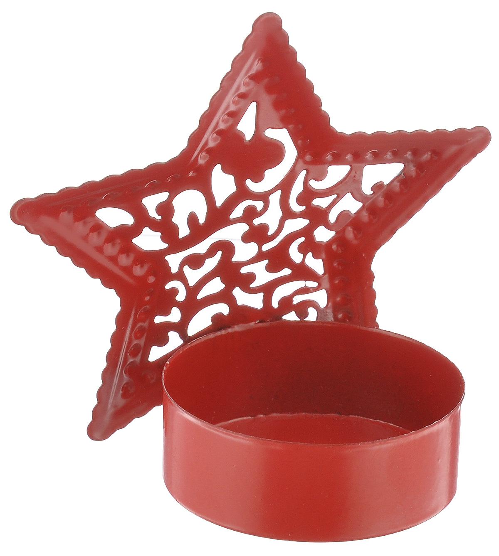 Подсвечник декоративный Феникс-презент Звезда, цвет: красный35315Декоративный подсвечник Феникс-презент Звезда изготовлен из черного металла в виде звезды. Внутрь подсвечника вставляется одна чайная свеча. Оригинальный и изысканный, такой подсвечник позволит украсить интерьер дома или рабочего кабинета оригинальным образом. Вы можете поставить подсвечник в любом месте, где он будет удачно смотреться и радовать глаз. Кроме того - это отличный вариант подарка для ваших близких и друзей.Диаметр отверстия для свечи: 4 см.