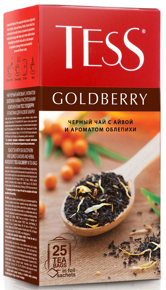 Tess Goldberry черный чай в пакетиках, 25 шт roxy tess