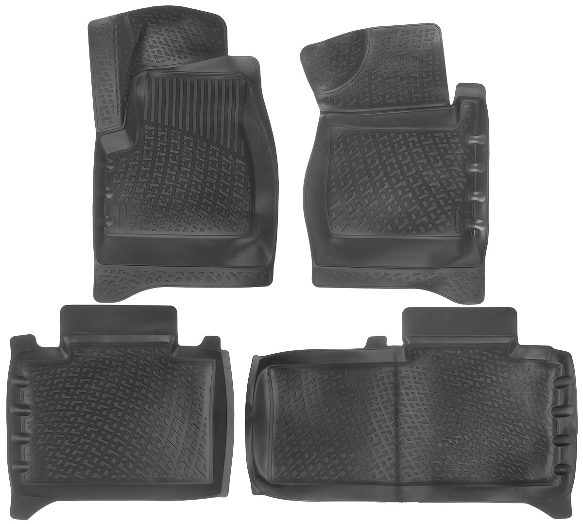 Набор автомобильных ковриков L.Locker УАЗ Patriot (1) 2012, в салон, 4 шт0282020201Набор L.Locker УАЗ Patriot (1) 2012, изготовленный из полиуретана, состоит из 4 антискользящих 3D ковриков, которые производятся индивидуально для каждой модели автомобиля. Изделие точно повторяет геометрию пола автомобиля, имеет высокий борт, обладает повышенной износоустойчивостью, лишено резкого запаха и сохраняет свои потребительские свойства в широком диапазоне температур от -50°С до +50°С.Комплектация: 4 шт.Размер ковриков: 82 см х 52 см; 64 см х 57 см; 59 см х 90 см; 76 см х 51 см.
