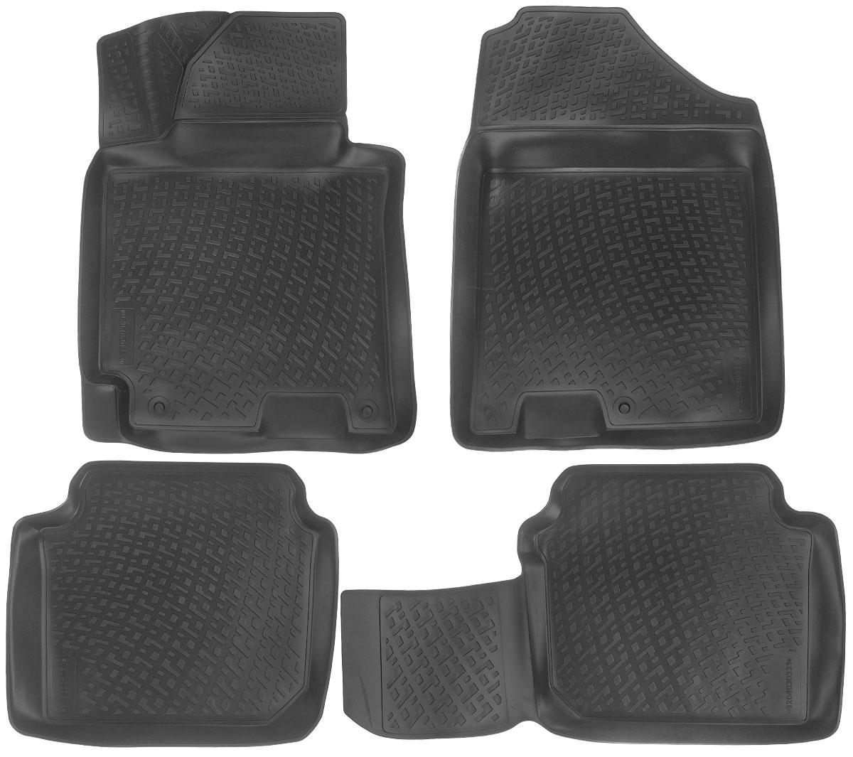 Набор автомобильных ковриков L.Locker Hyundai Elantra 2011, в салон, 4 шт0204030301Набор L.Locker Hyundai Elantra 2011, изготовленный из полиуретана, состоит из 4 антискользящих 3D ковриков, которые производятся индивидуально для каждой модели автомобиля. Изделие точно повторяет геометрию пола автомобиля, имеет высокий борт, обладает повышенной износоустойчивостью, лишено резкого запаха и сохраняет свои потребительские свойства в широком диапазоне температур от -50°С до +50°С.Комплектация: 4 шт.Размер ковриков: 77 см х 57 см; 57 см х 50 см; 89 см х 49 см; 77 см х 58 см.