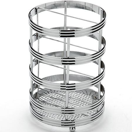 24298 Подставка для стол/приборов 11х16см МВ (х24)24298Подставка для столовых приборовМатериал: проволока, хромированный металлРазмер: 11 х 16 см.Вес: 320 гПодставка для столовых приборов MAYER & BOCH представляет собой каркас из хромированный металли со стальной сеткой в нижней части, подставка на трех шарообразных ножках. Подставка позволяет аккуратно хранить основные типы столовых приборов. Вы можете установить ее в любом удобном месте. Такая подставка для столовых приборов станет полезным аксессуаром в домашнем быту и идеально впишется в интерьер современной кухни.