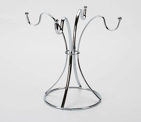 20066 Подставка-стойка д/чашек мет.MB (х12)20066Подставка-стойка круглая для 4 чашек материал: хромированная стальвысота 22,5 см