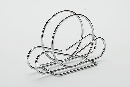 20085 Подставка д/салфеток мет.MB (х120)20085Салфетница материал:хромированная сталь Размер:15,5х3,5см.