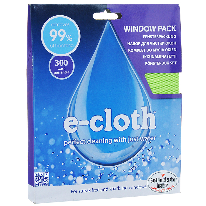 Набор салфеток для мытья окон E-cloth, цвет: зеленый, 2 шт20238С помощью набора салфеток для мытья окон E-cloth вы сможете идеально очистить не только стекла, но и оконные рамы и подоконники, не используя при этом химические средства.Набор состоит из: - салфетки для мытья окон. За счет более длинных и толстых волокон, салфетка имеет очень высокую впитывающую способность. Эта способность позволяет легко удалить любые загрязнения со стекол, оконных рам и подоконников. Размер: 40 см х 40 см.Состав: 80% полиэстер, 20% полиамид.Выдерживает до 300 циклов стирки без потери эффективности.- салфетки для полировки и очистки стекла, которая используется для очистки и полировки стеклянных, металлических и других твердых поверхностей без использования химикатов. Достаточно лишь смочить салфетку водой для очистки поверхности от жира и других загрязнений. Для полировки и придания блеска используйте сухую салфетку. Не оставляет разводов. Удаляет свыше 99% бактерий. Размер: 40 см х 50 см. Состав: 80% полиэстер, 20% полиамид.Выдерживает до 300 циклов стирки без потери эффективности.