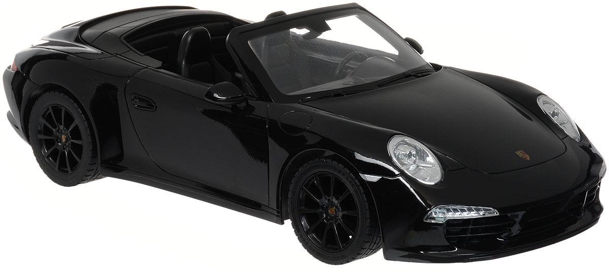 Rastar Радиоуправляемая модель Porsche 911 Carrera S цвет черный rastar 1 24 porsche 918 spyder серебро 71400