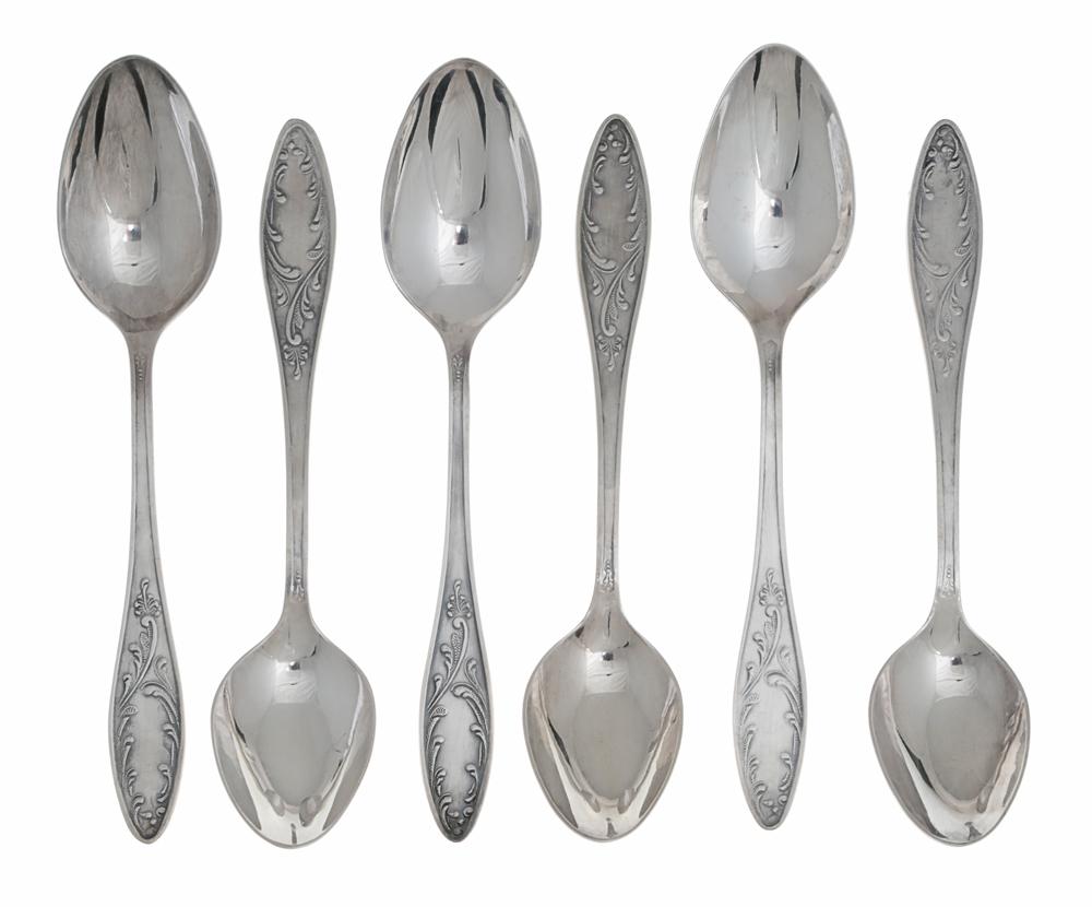 Комплект из 6 десертных ложек. Нейзильбер, серебрение. СССР, вторая половина ХХ века плоскогубцы переставные stanley fatmax 21 см