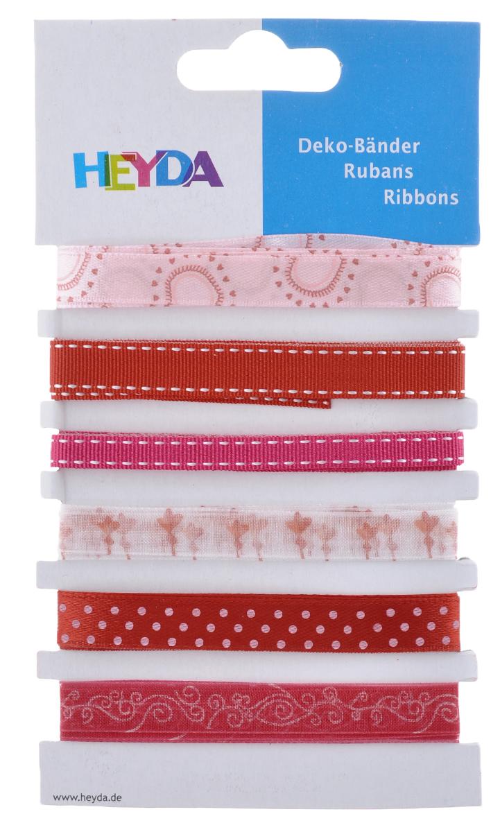 Набор декоративных лент Heyda Love, 90 см, 6 шт набор декоративных лент veld co парча металл 1 6 см х 3 м 30 шт