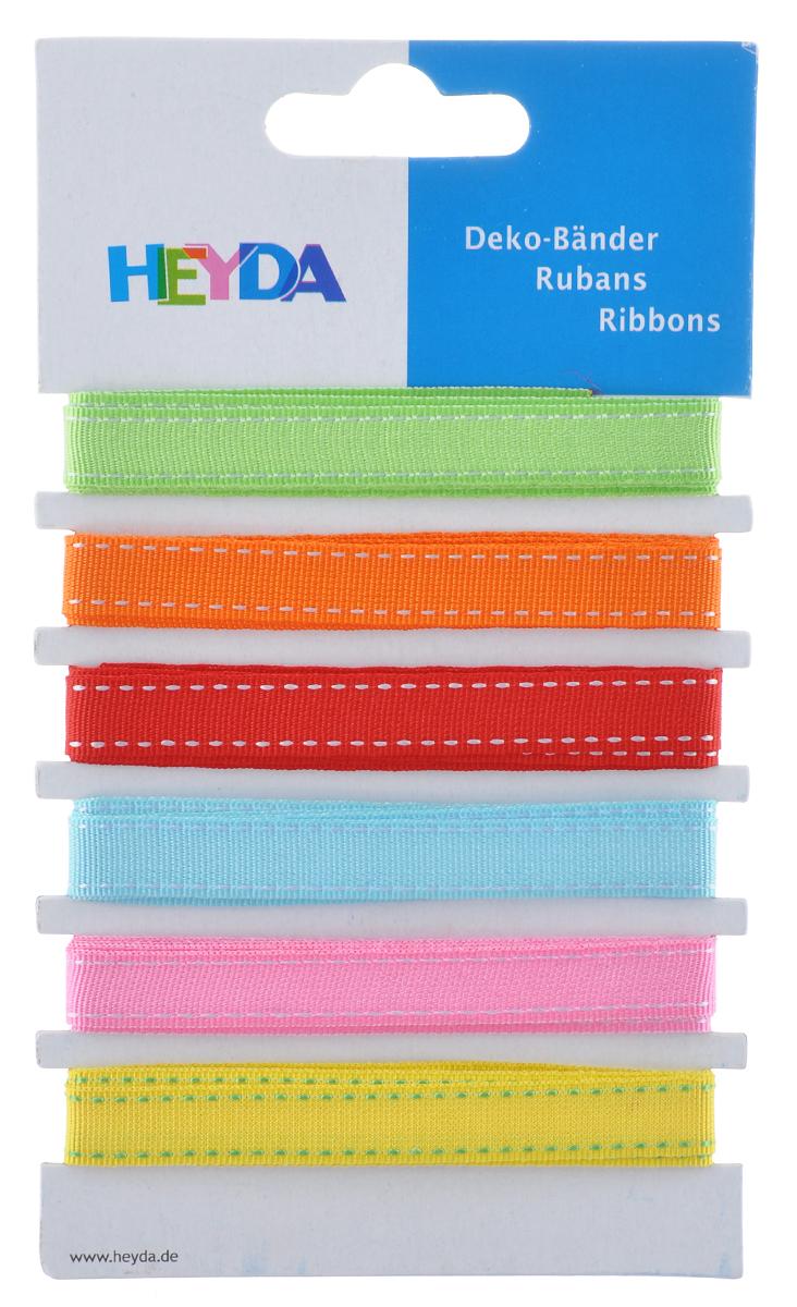 Набор декоративных лент Heyda Сoloured, 90 см, 6 шт набор декоративных лент veld co парча металл 1 6 см х 3 м 30 шт