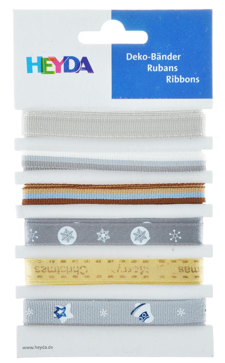 Набор декоративных лент Heyda Wintermix, 90 см, 6 шт набор декоративных лент veld co парча металл 1 6 см х 3 м 30 шт