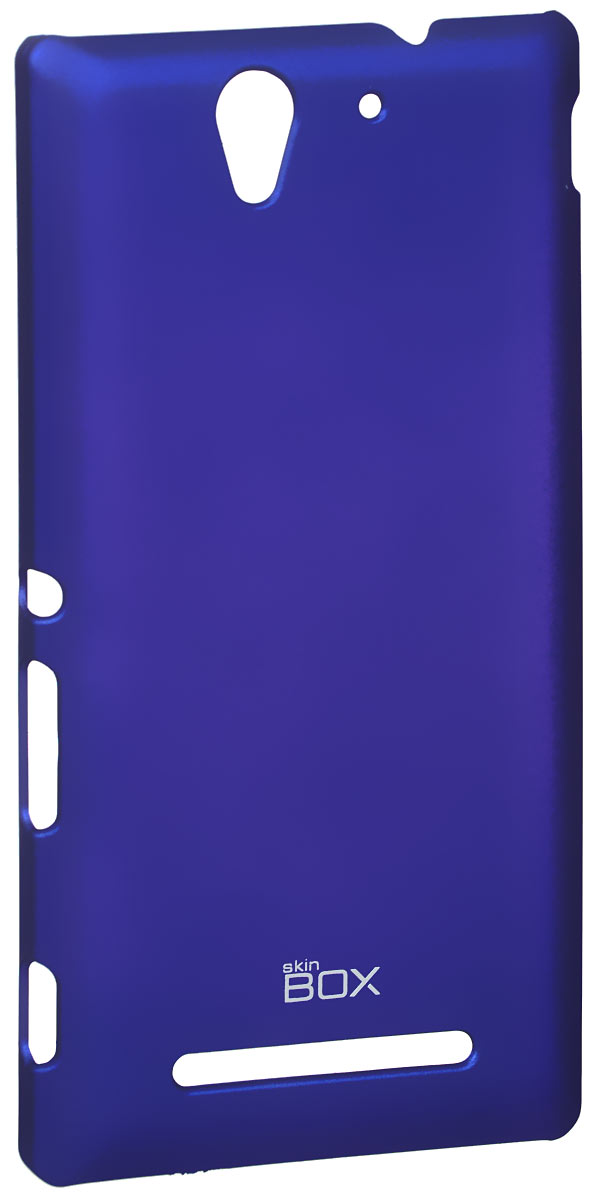 Skinbox 4People чехол для Sony Xperia C3, Blue чехлы для телефонов skinbox sony xperia c3 shield 4people