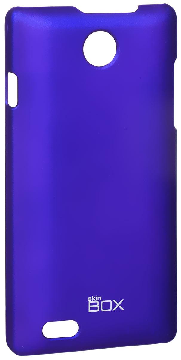 Skinbox 4People чехол для ZTE v815W, BlueT-S-v815W-002Чехол-накладка Skinbox 4People для ZTE v815W бережно и надежно защитит ваш смартфон от пыли, грязи, царапин и других повреждений. Чехол оставляет свободным доступ ко всем разъемам и кнопкам устройства.