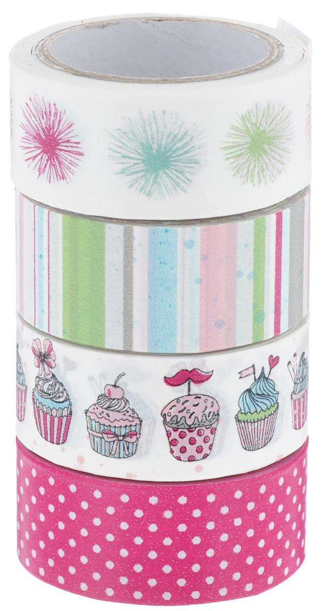 Набор бумажных лент Heyda, на клейкой основе, цвет: белый, ярко-розовый, голубой, 1,5 см х 500 см, 4 шт7706832_362Набор Heyda состоит из 4 бумажных лент разных дизайнов. Такой набор идеальноподойдет для создания и украшения красивых открыток, скрап-страничек и множествадругих проектов. Задняя сторона - клейкая.Скрапбукинг - это хобби, которое способно приносить массу приятных эмоцийне только человеку, который этим занимается, но и его близким, друзьям,родным. Это невероятно увлекательное занятие, которое поможет вамсохранить наиболее памятные и яркие моменты вашей жизни, а такжеинтересно оформить интерьер дома.Размер ленты: 1,5 см х 500 см.