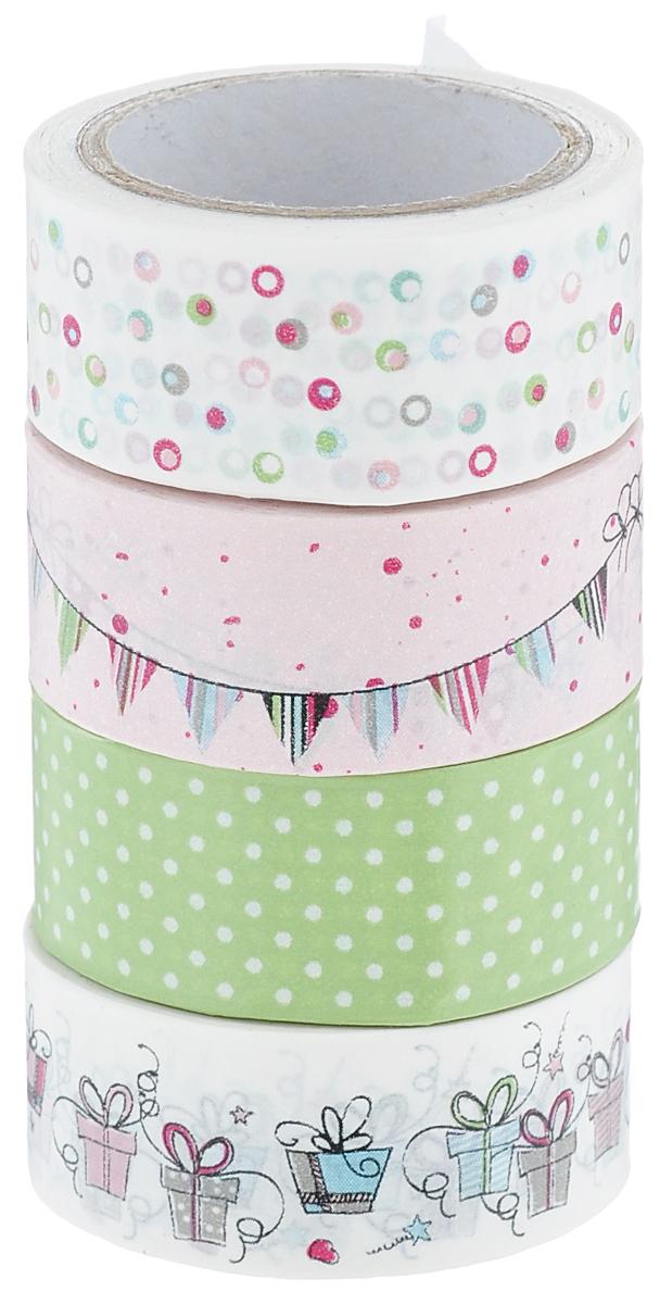 Набор бумажных лент Heyda, на клейкой основе, цвет: белый, розовый, зеленый, 1,5 х 500 см, 4 шт203584363Набор Heyda состоит из 4 бумажных лент разных дизайнов. Такой набор идеально подойдет для создания и украшения красивых открыток, скрап-страничек и множества других проектов. Задняя сторона - клейкая. Скрапбукинг - это хобби, которое способно приносить массу приятных эмоций не только человеку, который этим занимается, но и его близким, друзьям, родным. Это невероятно увлекательное занятие, которое поможет вам сохранить наиболее памятные и яркие моменты вашей жизни, а также интересно оформить интерьер дома.Размер ленты: 1,5 см х 500 см.