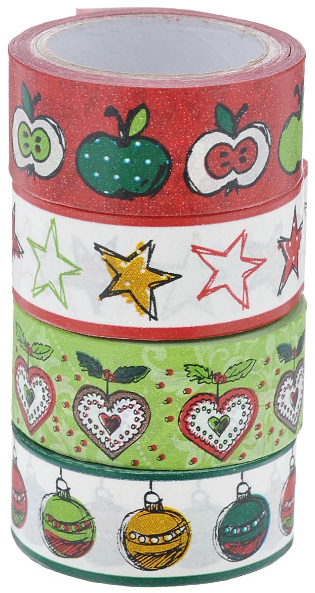 Набор бумажных лент Heyda, на клейкой основе, цвет: красный, зеленый, бледно-розовый, 1,5 см х 500 см, 4 шт203584386Набор Heyda состоит из 4 бумажных лент разных дизайнов. Такой набор идеально подойдет для создания и украшения красивых открыток, скрап-страничек и множества других проектов. Задняя сторона - клейкая. Скрапбукинг - это хобби, которое способно приносить массу приятных эмоций не только человеку, который этим занимается, но и его близким, друзьям, родным. Это невероятно увлекательное занятие, которое поможет вам сохранить наиболее памятные и яркие моменты вашей жизни, а также интересно оформить интерьер дома.Размер ленты: 1,5 см х 500 см.