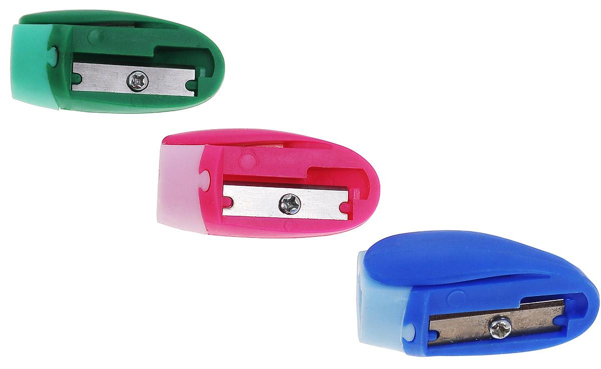 Erich Krause Набор точилок Joy цвет розовый синий зеленый 3 шт  - купить со скидкой