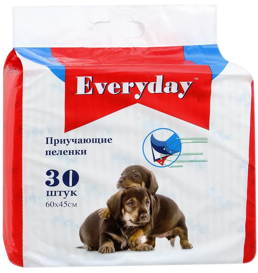 Фото - Пеленки для животных Everyday, впитывающие, гелевые, 60 х 45 см, 30 шт пеленки впитывающие уют гелевые для животных м 45 х 60 см 20 шт