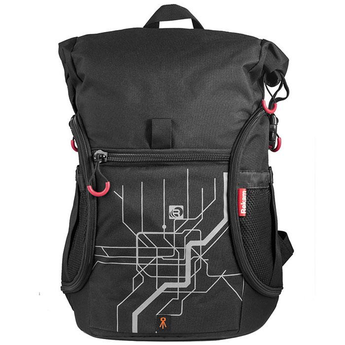 Rekam Pyramid RBX-6000, Black сумка для фотокамеры1401101991Удобный, вместительный рюкзак Rekam Pyramid RBX-6000 предназначен для фото- и видео техники. Функциональные карманы, отсеки и крепления позволяют помимо фотоаппарата, удобно разместить дополнительный объектив, выносную вспышку, штатив, и много мелких аксессуаров. Отсек для личных вещей, который при необходимости удобно складывается и не занимает места, делает рюкзак незаменимым спутником в любом путешествии. Жесткий каркас и ортопедическая спинка надежно защищают как оборудование, так и спину фотографа.