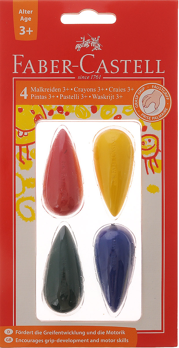 Faber-Castell Мелки цветные для дошкольного возраста 4 шт mbasr06002 motherboard for acer aspire 6930 6930z 6930g 6930zg mb asr06 002 zk2 da0zk2mb6f1