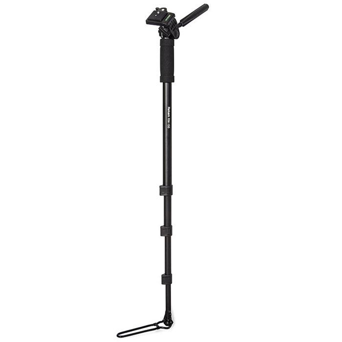 Rekam RM-155 штатив1214000111Монопод Rekam RM-155, как и штативы, применяется для стабилизации фотокамеры при фотосъемке. Основная особенность, отличающая монопод от штатива – наличие одной опорной ноги. Монопод не избавляет фотоаппарат от шевеленки полностью, тем не менее, позволяет поставить выдержку на один-два стопа большую,нежели при съемке с рук.Главное преимущество монопода – мобильность; фотограф со штативом фактически привязан к одной точке (сворачивание-установка штатива занимает около минуты), в то время как с моноподом он может двигаться, отыскивая подходящие ракурсы. Все модели моноподов имеют удобные и жесткие фиксаторы для изменения высоты ноги, а также легкую и прочную сумку-чехол, для переноса и защиты от механических повреждений. Очень удобноиспользовать монопод для репортажной съёмки. В этом случае он просто незаменим, так как при большом скоплении людей, просто нет возможности установить штатив.