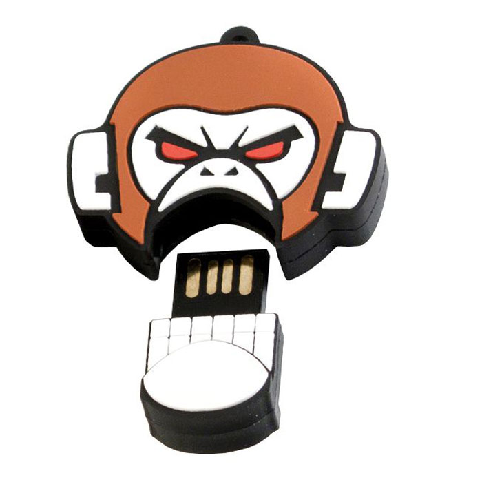 USBSOUVENIR Evil Monkey 64GB, White Brown USB-накопитель childs laura steeped in evil